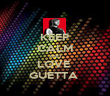 KEEP CALM AND LOVE  GUETTA  - Personalised Poster large