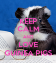 KEEP CALM AND LOVE GUINEA PIGS - Personalised Poster large