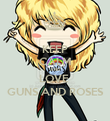KEEP CALM AND LOVE  GUNS AND ROSES - Personalised Poster large
