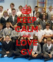 KEEP CALM AND LOVE GV - Personalised Poster large
