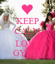 KEEP CALM AND LOVE GYPSY - Personalised Poster large