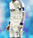 KEEP CALM AND Love Hadjer - Personalised Poster large