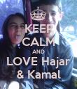 KEEP CALM AND LOVE Hajar & Kamal - Personalised Poster large
