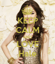 KEEP CALM AND LOVE Hale - Personalised Poster large