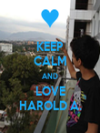 KEEP CALM AND LOVE HAROLD A. - Personalised Poster large