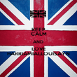 KEEP CALM AND  LOVE HARRIAMIALLOUISAYN - Personalised Poster large