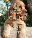 KEEP CALM AND Love Harry - Personalised Poster large
