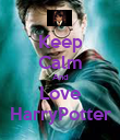 Keep Calm And Love  HarryPotter  - Personalised Poster large