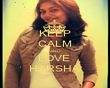 KEEP CALM AND LOVE  HARSHA - Personalised Poster large