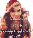 KEEP CALM AND LOVE HAYLEY KIYOKO - Personalised Large Wall Decal