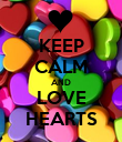 KEEP CALM AND LOVE HEARTS - Personalised Poster large