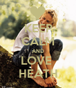 KEEP CALM AND LOVE  HEATH - Personalised Poster large