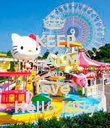 KEEP CALM AND love  Hello Kitty - Personalised Poster large