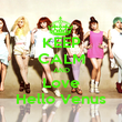 KEEP CALM AND Love Hello Venus - Personalised Poster large