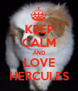 KEEP CALM AND LOVE HERCULES - Personalised Poster large