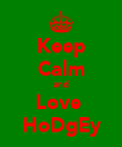 Keep Calm and Love  HoDgEy - Personalised Poster large