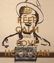 KEEP CALM AND LOVE HOOLIGAN - Personalised Poster large