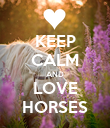 KEEP CALM AND LOVE HORSES - Personalised Poster large