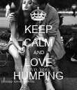KEEP CALM AND LOVE HUMPING - Personalised Poster large