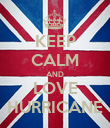 KEEP CALM AND LOVE HURRICANE - Personalised Poster large