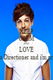 KEEP CALM AND LOVE I'm a Directioner and i'm proud - Personalised Poster large