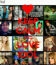 KEEP CALM AND LOVE IDOL - Personalised Poster large