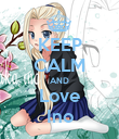 KEEP CALM AND Love Ino - Personalised Poster large