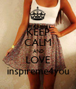 KEEP CALM AND LOVE inspireme4you - Personalised Poster large