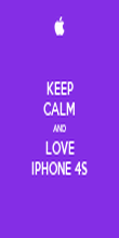 KEEP CALM AND LOVE IPHONE 4S - Personalised Poster large
