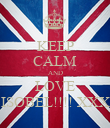 KEEP CALM AND LOVE ISOBEL!!!! XXX - Personalised Poster large