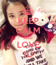 KEEP CALM AND LOVE IU - Personalised Poster large
