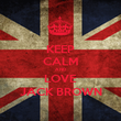 KEEP CALM AND LOVE JACK BROWN - Personalised Poster large