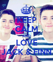 KEEP CALM AND LOVE JACK & FINN - Personalised Poster large