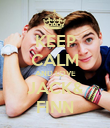 KEEP CALM AND LOVE JACK& FINN - Personalised Poster large