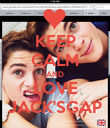 KEEP CALM AND LOVE JACK'SGAP - Personalised Poster small