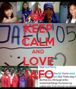 KEEP CALM AND LOVE JAFO - Personalised Poster large