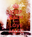 KEEP CALM AND LOVE JALEC - Personalised Poster large