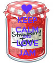 KEEP CALM AND LOVE JAM - Personalised Poster large
