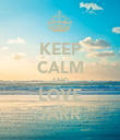 KEEP CALM AND LOVE JARR - Personalised Poster large