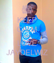 KEEP CALM AND LOVE JAYDELWIZ - Personalised Poster large