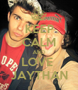 KEEP CALM AND LOVE  JAYTHAN - Personalised Poster large