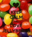 KEEP CALM AND LOVE JELLYBEANS - Personalised Poster large