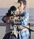 KEEP CALM AND LOVE JEMI  - Personalised Poster large