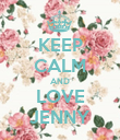 KEEP CALM AND LOVE JENNY - Personalised Poster large