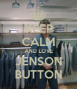 KEEP CALM AND LOVE JENSON BUTTON - Personalised Poster small