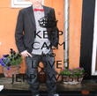 KEEP CALM AND LOVE  JEPPE WEST  - Personalised Poster large