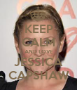 KEEP CALM AND LOVE JESSICA CAPSHAW - Personalised Poster large