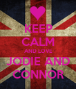 KEEP CALM AND LOVE JODIE AND CONNOR - Personalised Poster large