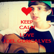 KEEP CALM AND LOVE JOEL GONCALVES - Personalised Poster large