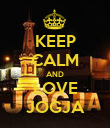 KEEP CALM AND LOVE JOGJA - Personalised Poster large